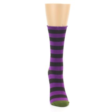 Image of Orchid Purple Stripe Women's Bamboo Dress Socks (front-04)