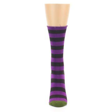 Image of Orchid Purple Stripe Women's Bamboo Dress Socks (front-05)