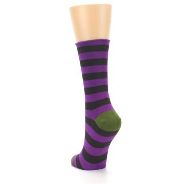 Image of Orchid Purple Stripe Women's Bamboo Dress Socks (side-2-back-16)