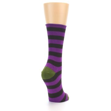 Image of Orchid Purple Stripe Women's Bamboo Dress Socks (side-1-back-21)