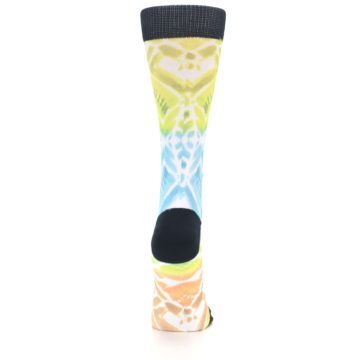 Image of Blue Yellow Orange Pattern Women's Casual Socks (back-19)