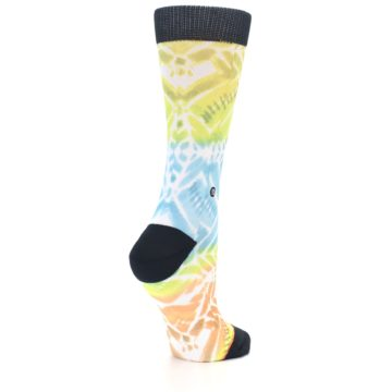 Image of Blue Yellow Orange Pattern Women's Casual Socks (side-1-back-22)