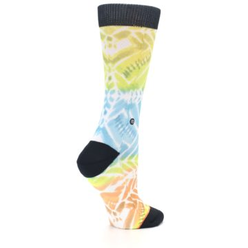 Image of Blue Yellow Orange Pattern Women's Casual Socks (side-1-23)