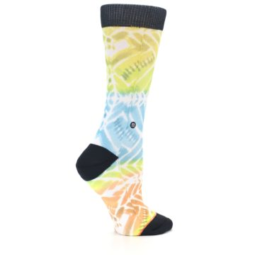 Image of Blue Yellow Orange Pattern Women's Casual Socks (side-1-24)