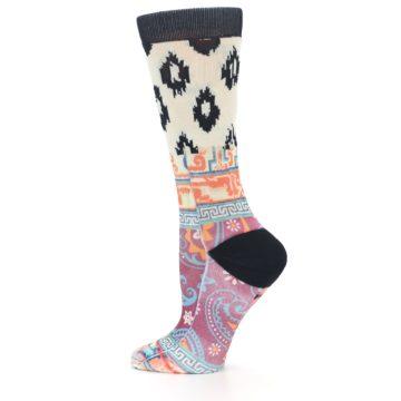 Image of Multi Eastern Paisley Women's Casual Socks (side-2-12)