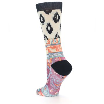 Image of Multi Eastern Paisley Women's Casual Socks (side-2-back-14)