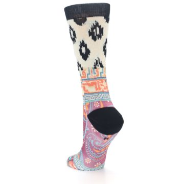 Image of Multi Eastern Paisley Women's Casual Socks (side-2-back-15)