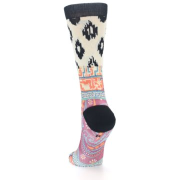 Image of Multi Eastern Paisley Women's Casual Socks (side-2-back-16)