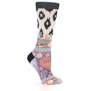 Image of Multi Eastern Paisley Women's Casual Socks (side-1-25)