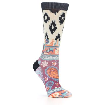 Image of Multi Eastern Paisley Women's Casual Socks (side-1-26)