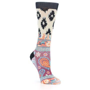 Image of Multi Eastern Paisley Women's Casual Socks (side-1-27)