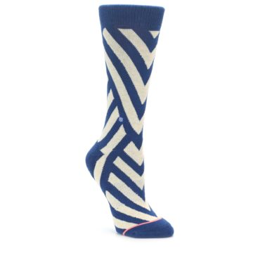 Stance Women's Intersections Blue Steel Socks