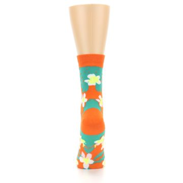 Image of Orange Green Tropical Women's Casual Socks (back-18)