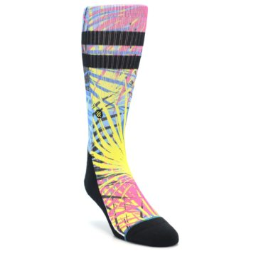 Image of Multi Color Splatter Men's Casual Socks (side-1-front-02)