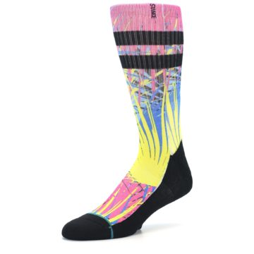 Image of Multi Color Splatter Men's Casual Socks (side-2-09)