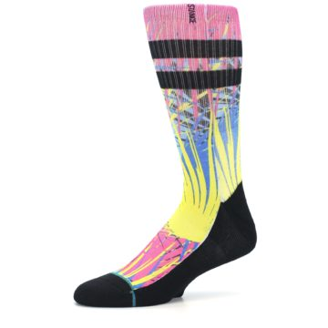 Image of Multi Color Splatter Men's Casual Socks (side-2-10)