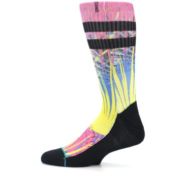 Image of Multi Color Splatter Men's Casual Socks (side-2-12)