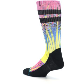Image of Multi Color Splatter Men's Casual Socks (side-2-back-14)