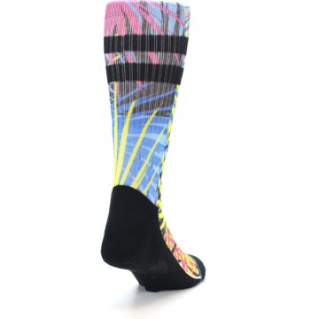 Image of Multi Color Splatter Men's Casual Socks (side-1-back-20)