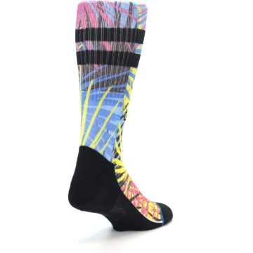Image of Multi Color Splatter Men's Casual Socks (side-1-back-21)
