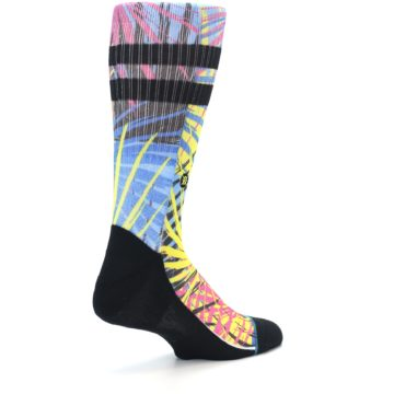 Image of Multi Color Splatter Men's Casual Socks (side-1-back-22)