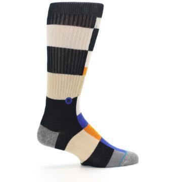 Image of Black Orange Blue Check Men's Casual Socks (side-1-24)