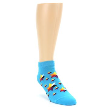 Image of Blue Stars Men's Ankle Socks (side-1-front-02)