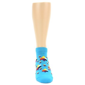 Image of Blue Stars Men's Ankle Socks (front-04)