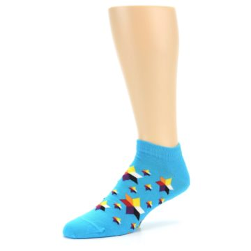 Image of Blue Stars Men's Ankle Socks (side-2-09)