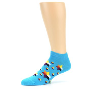 Image of Blue Stars Men's Ankle Socks (side-2-10)