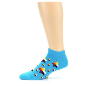 Image of Blue Stars Men's Ankle Socks (side-2-11)