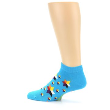 Image of Blue Stars Men's Ankle Socks (side-2-13)