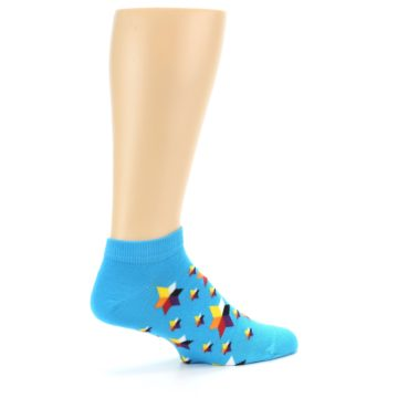 Image of Blue Stars Men's Ankle Socks (side-1-23)