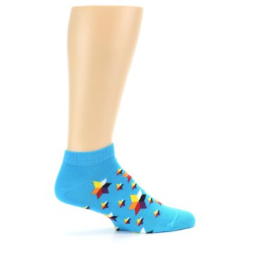 Image of Blue Stars Men's Ankle Socks (side-1-24)