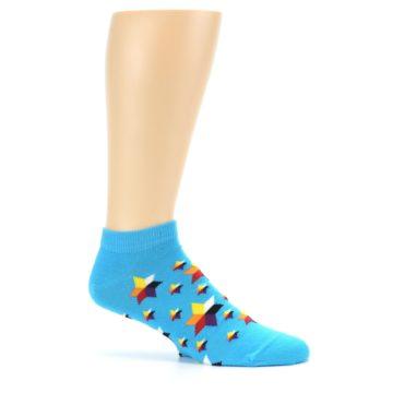 Image of Blue Stars Men's Ankle Socks (side-1-25)