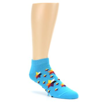 Image of Blue Stars Men's Ankle Socks (side-1-27)