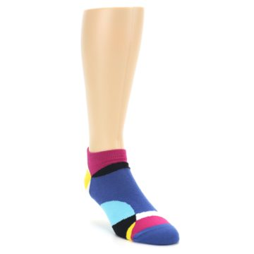 Image of Multi Overlapping Circles Men's Ankle Socks (side-1-front-02)