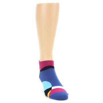 Image of Multi Overlapping Circles Men's Ankle Socks (side-1-front-03)