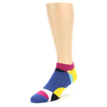 Image of Multi Overlapping Circles Men's Ankle Socks (side-2-front-08)