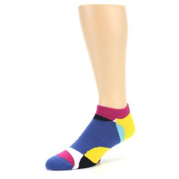 Image of Multi Overlapping Circles Men's Ankle Socks (side-2-09)