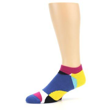 Image of Multi Overlapping Circles Men's Ankle Socks (side-2-10)