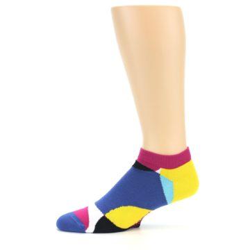 Image of Multi Overlapping Circles Men's Ankle Socks (side-2-11)