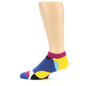 Image of Multi Overlapping Circles Men's Ankle Socks (side-2-12)