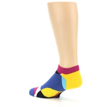 Image of Multi Overlapping Circles Men's Ankle Socks (side-2-back-14)