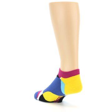Image of Multi Overlapping Circles Men's Ankle Socks (side-2-back-15)