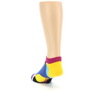 Image of Multi Overlapping Circles Men's Ankle Socks (side-2-back-16)