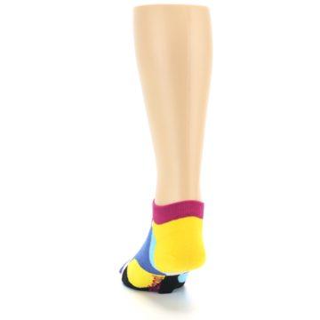 Image of Multi Overlapping Circles Men's Ankle Socks (back-17)
