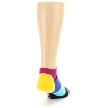 Image of Multi Overlapping Circles Men's Ankle Socks (side-1-back-20)
