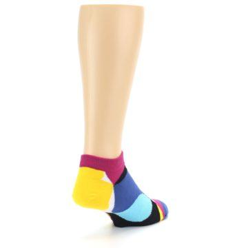 Image of Multi Overlapping Circles Men's Ankle Socks (side-1-back-21)