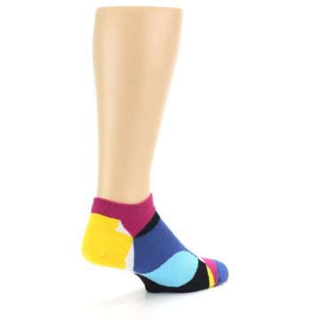 Image of Multi Overlapping Circles Men's Ankle Socks (side-1-back-22)